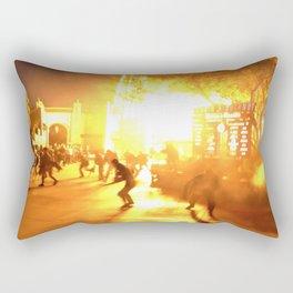 The Zombie Apocalypse  Rectangular Pillow