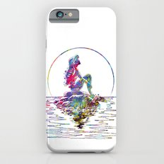 The Little Mermaid Ariel Silhouette Watercolor iPhone 6 Slim Case