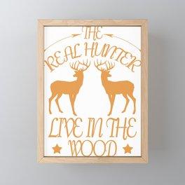 hunting roe deer hare hunter game partridge fox antler red Framed Mini Art Print