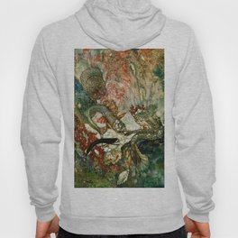 """King of the Mermaids"" Fairy Tale Art by Edmund Dulac Hoody"