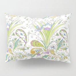 Whimsical Paisley Iris Pillow Sham