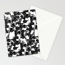 just penguins black white Stationery Cards