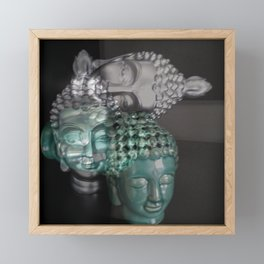 Scattered Buddhas Framed Mini Art Print