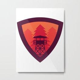 Fire Watchtower Metal Print