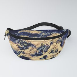 blue moon and clouded night sky Fanny Pack