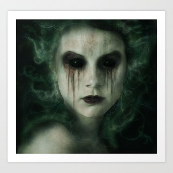 Black Eyed Angel Art Print