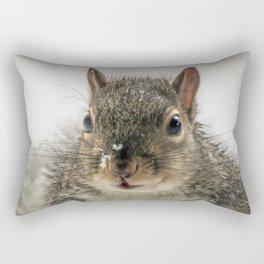 Adorable Praying Squirrel..Feed ME!! Rectangular Pillow