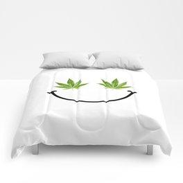Weed Smile Comforters
