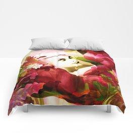 """Exotic Woman Tropical Jungle"" Comforters"