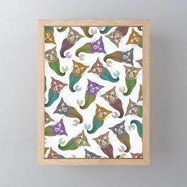 Cat Piranhas Framed Mini Art Print