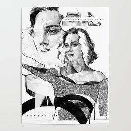 Marion Cotillard in Inception - Movie Inspired Art Poster