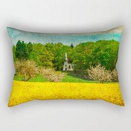 spring in upper Swabia Rectangular Pillow