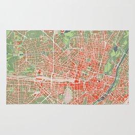 Munich city map classic Rug