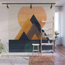 Twin Sun Wall Mural