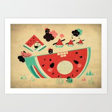Watermelon Playground Art Print