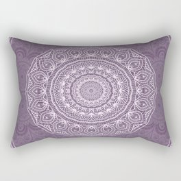 White Lace on Lavender Rectangular Pillow