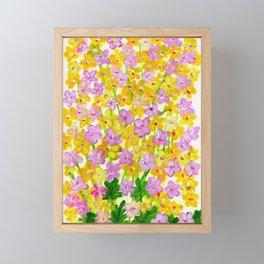 Yellow Flowers Bloom Framed Mini Art Print