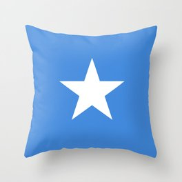National flag of Somalian - Authentic version to scale and color Throw Pillow