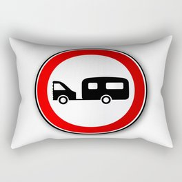 Caravan Road Traffic Sign Rectangular Pillow