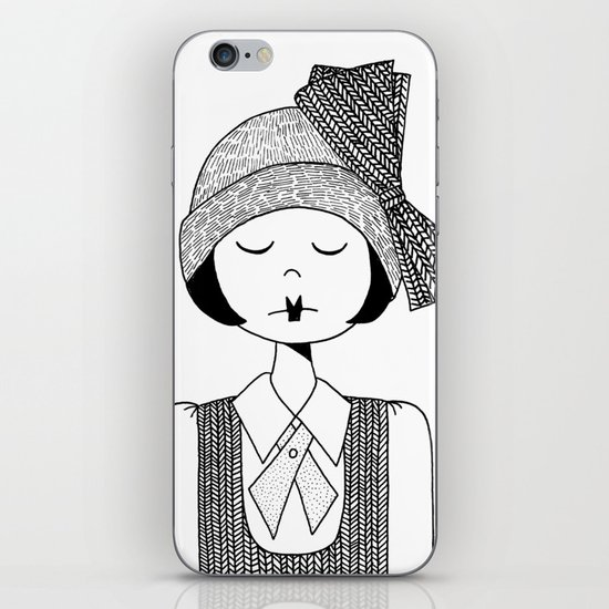 Flapper Girl iPhone & iPod Skin