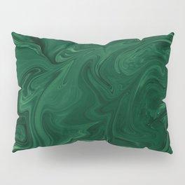 Modern Cotemporary Emerald Green Abstract Pillow Sham