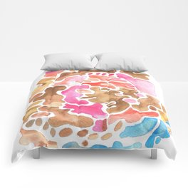 170626 Patches of Thoughts 3   Abstract Shapes Drawing   Abstract Shapes Art  Watercolor Painting   Comforters