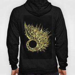 GOLDEN CURL - SHINING PAINTING ON BLACK BACKGROUND Hoody