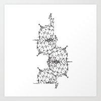 dna Art Prints featuring DNA by kartalpaf