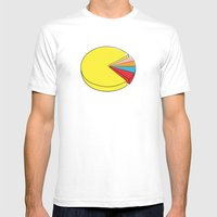 Epic Pie Chart White MEDIUM Mens Fitted Tee
