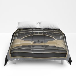 Art deco design V Comforters
