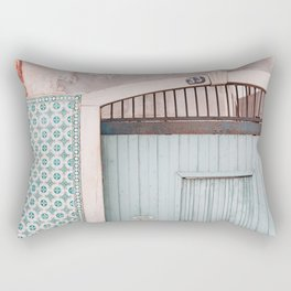 The mint door Rectangular Pillow
