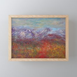 Fall colors in the San Juan National Forest Colorado Framed Mini Art Print
