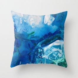 Deep Blue Ocean Life Throw Pillow
