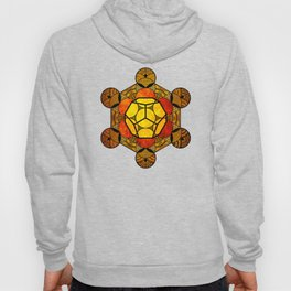 Sacred Geometry for your daily life -  Platonic Solids - ETHER COLOR Hoody