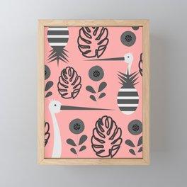 Stork and pineapples Framed Mini Art Print