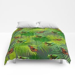 Frogs and Monarchs Comforters