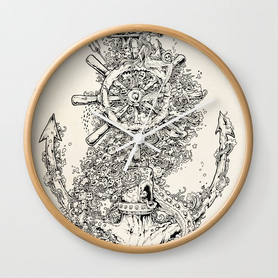 Into The Deep Wall Clock
