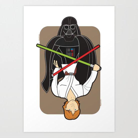 Darth Vader and Luke Art Print