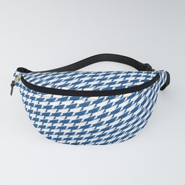 Sharkstooth Sharks Pattern Repeat in White and Blue Fanny Pack