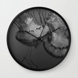 Jellyfish (Black and White) Wall Clock