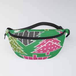 Festive Christmas trees Fanny Pack