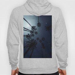 Palm Trees, Night Sky, Stars, Moon Hoody