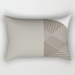 Minimal Trangles Beige Rectangular Pillow