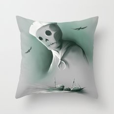 Wreckage of the past Throw Pillow