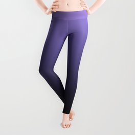 Ombre . Black-purple Leggings