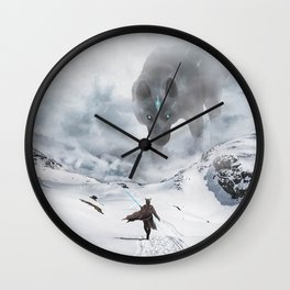 Ancient Wolf Wall Clock