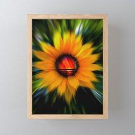 Sunflower -sunse Framed Mini Art Print