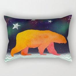 Aurora Bear -  Technicolour Safari, Polar bear Rectangular Pillow