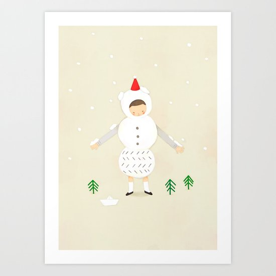 snow snow Art Print