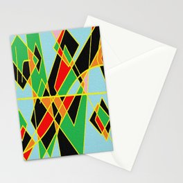 Geometric multicolor Stationery Cards